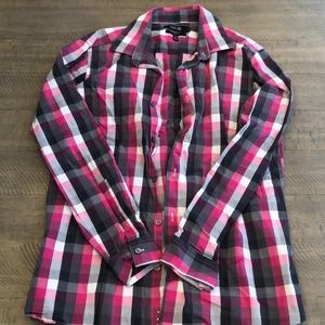 Apt 9 Pink and Black button down